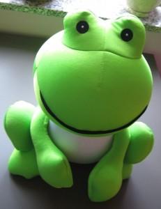 Frosch-Knuddel-Kissen