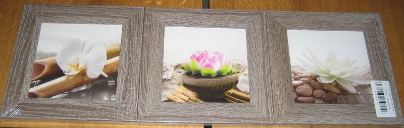3er Bilderset mit Rahmen Bambus Ori 8
