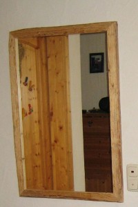 Altholz-Wandspiegel