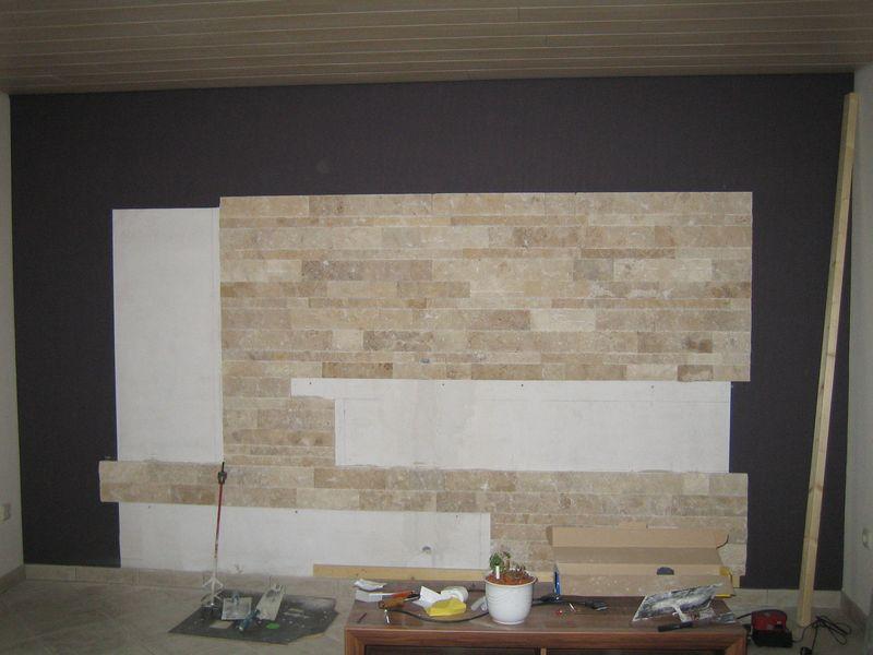 Wohnzimmer Naturstein Wandverkleidung ~ Interieur- und Wohndesign-Ideen